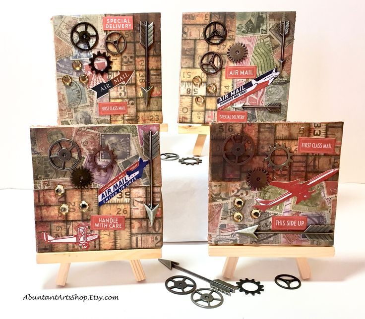 Steampunk Style Mini-Collage using Vintage-Vibe papers & gears at #AbundantArtsShop #Etsy to buy click image #GiftForHim #GiftsForMen #ManCave #MensAccessories #SteampunkStyle #Steampunk #OfficeGift #CubicleArt