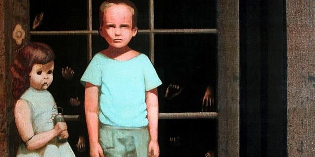 👻 - Paranormal - A California couple bought a painting back in 2000. The painting, called The Hands Resist Him, depicts two children a little girl with a dolllike ...