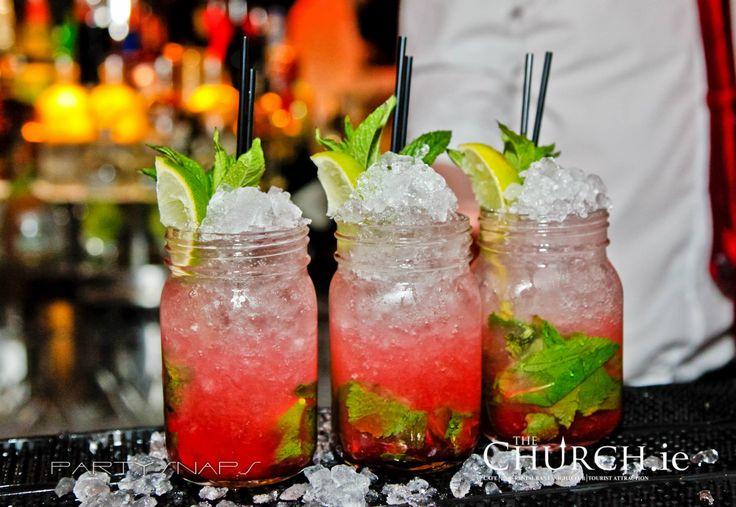 CLASSICS!! Strawberry Mojito #TheChurchDublin #Cocktails #Mojito #