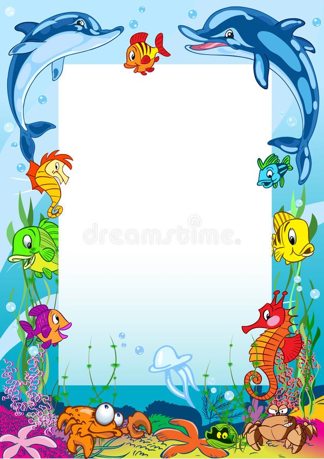 Pin By Melinda Fredrickson On Birthday In 2020 Colorful Borders Ocean Illustration Graphic Design Posters