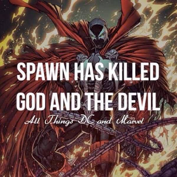 Spawn has killed God and the Devil!  #spawn #comics #comic #imagecomics #comicbook #comiccon #wondercon #wondercon2016 #superherofact #geek #nebriated  #marvel #marvelcomics #dc #dccomics #dcuniverse #marveluniverse #marvelshots #followme #follow #instagood #instamood