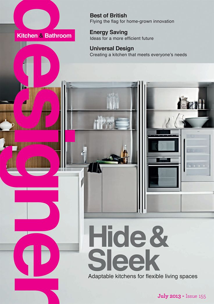 The Slim Kitchen By Elmar And Available From Laurence Pidgeon Gracing The Cover Of Designer Kitchen Bathroom Magazine July 2013
