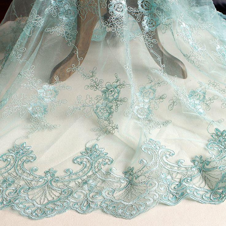 Изысканные белые вышитые кружевной ткани, европейский стиль роскошные свадебные платья DIY ткани 130 см купить на AliExpress