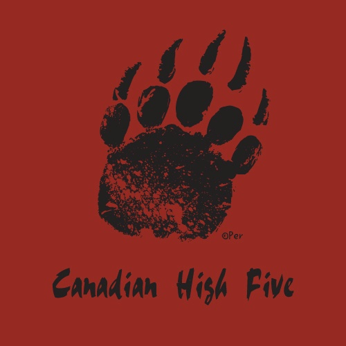 Canadian T-Shirt (Adult) - Canadian High Five - $19.95