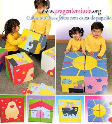 6 picture puzzles  big blocks and small blocks