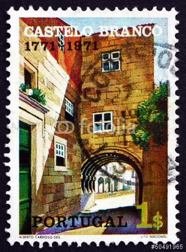 "Download the royalty-free photo ""Postage stamp Portugal 1971 Town Gate, Castelo Branco"" created by laufer at the lowest price on Fotolia.com. Browse our cheap image bank online to find the perfect stock photo for your marketing projects!"