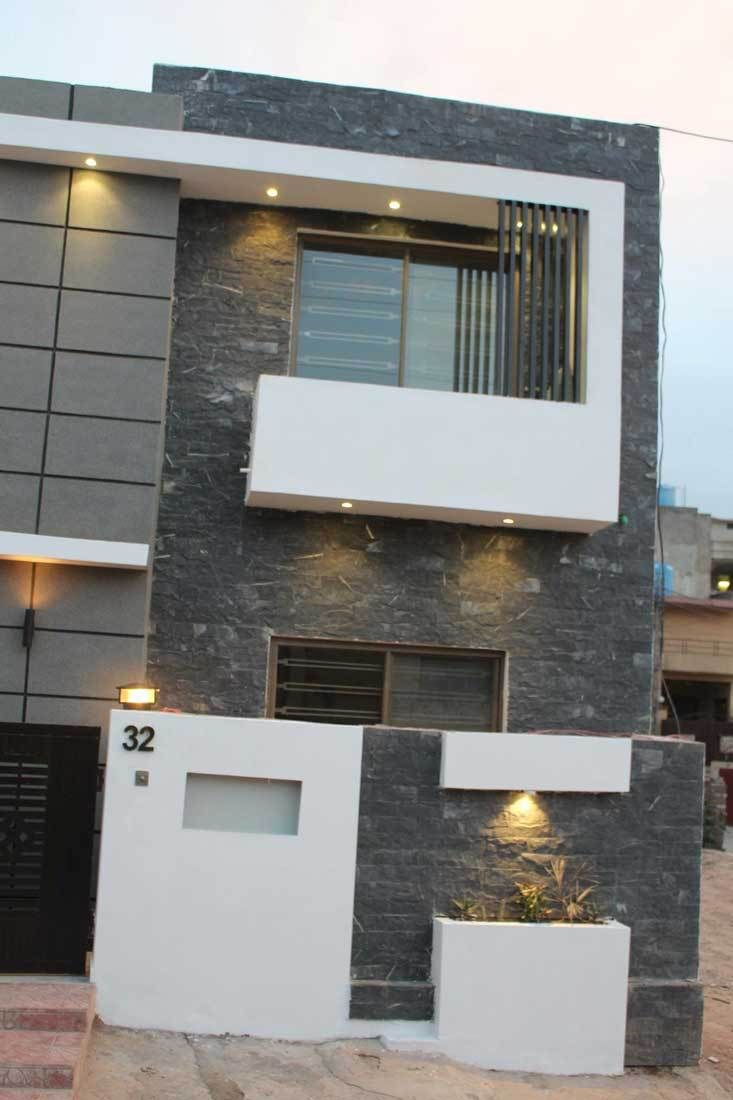 Construction Tip Construction Cost In Islamabad Construction Cost Of Grey Structure Without Fini Modern House Exterior House Front Design Compound Wall Design
