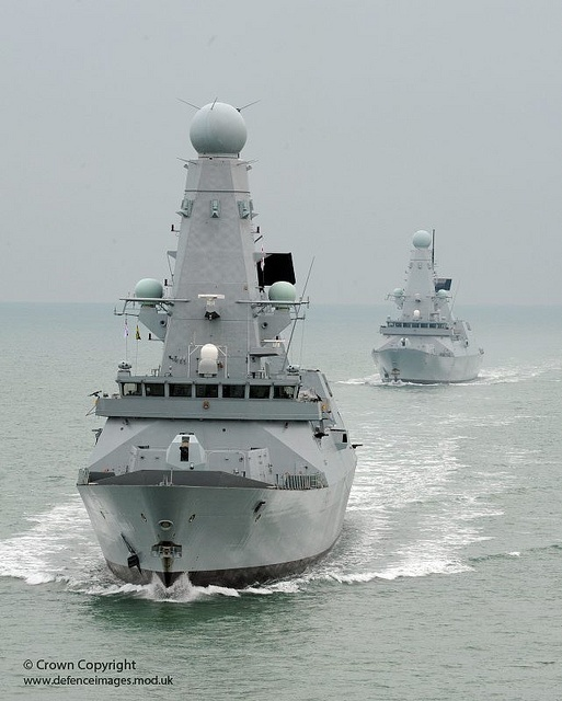 Type 45 destroyers together for the first time.