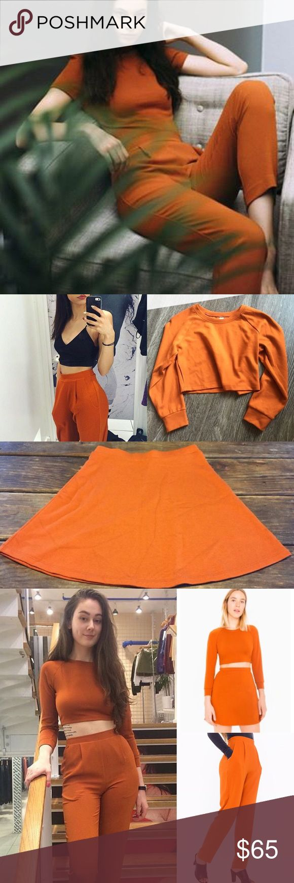 AA - Umber Ensembles!  Cropped Sweater, Crepe Pants and Hyperion Skirt. Still debating on whether or not I should sell. American Apparel Other