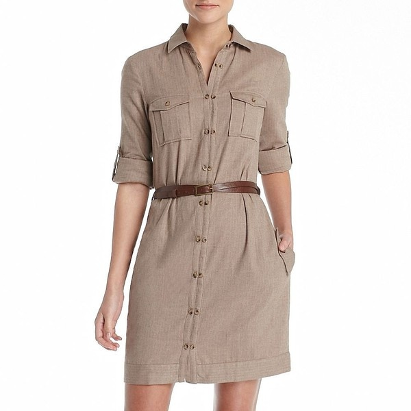 MNG by Mango® Belted Herringbone Shirt Dress.  I bought this at a GOODWILL store for $3.99!