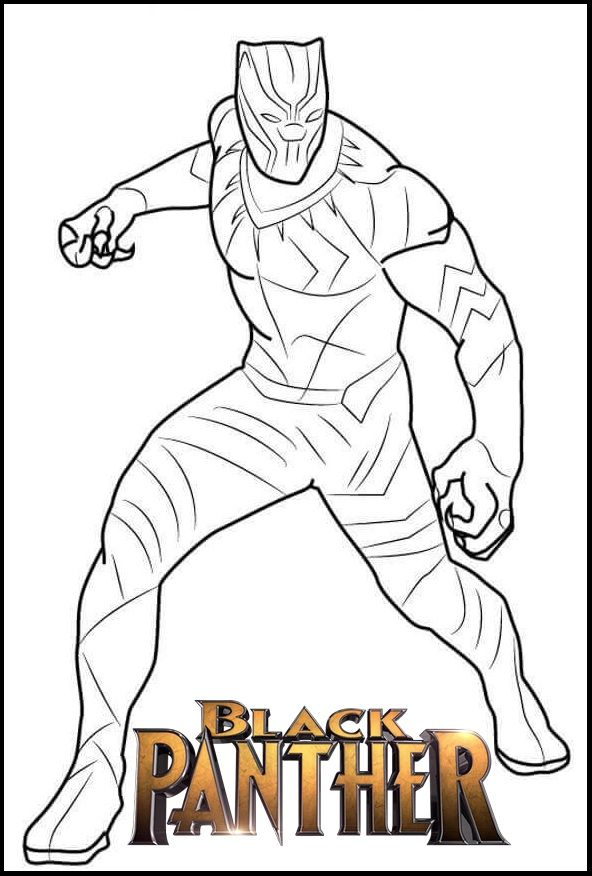 Marvel Black Panther Coloring Page Avengers Coloring Pages