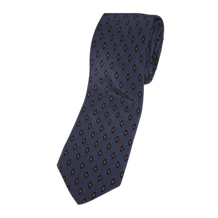 A vintage silk tie from Claudio Berruti Creazoni. Abstract print, 100% silk, made in Italy.