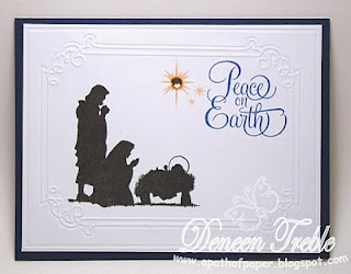 Close To My Heart, Glory To God Stamp, Quick Christmas Cards, Clean and Simple