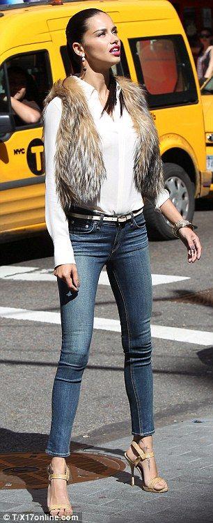 Minus the fur vest. - my girl Adriana Lima <3