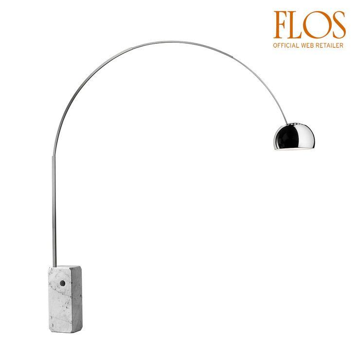 Arco è l'iconica lampada da terra progettata dal genio di Achille e Pier Giacomo Castiglioni per il brand Flos - 1962