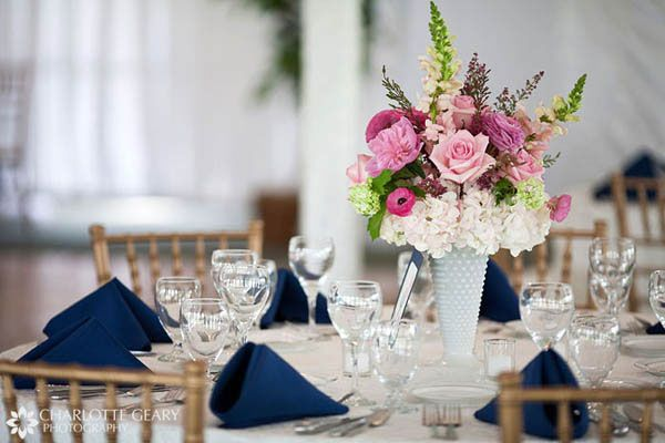 Great idea for a pink centerpiece with just a little height to it, Beautiful.    Charlotte Grey Photography