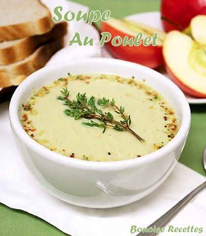 Bonjour, je partage avec vous cette facile et rapide soupe au poulet parfumée au thym.Pour d'autres soupes voir ma catégorie les soupes. Ingrédients 450 gr de blanc de poulet coupé en petits cubes 4 oignons coupés en lamelles 1 poireaux coupé en rondelle...