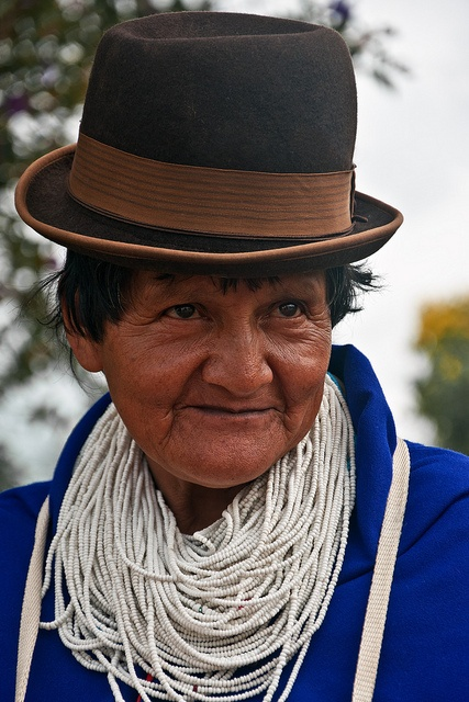 Guambiana Misak woman from the Cauca (Andes Mountains) region of Colombia. I'm actually descended from these indigenous people.