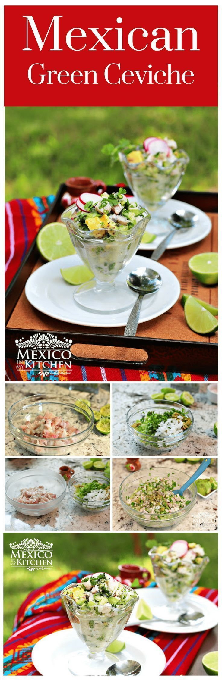How to make Mexican Green Ceviche │this is a dish prepared with raw fish that is usually marinated in lime juice and other fresh ingredients #MEXICANRECIPES #MEXICANCUISINE #FISH #MEXICANFOOD