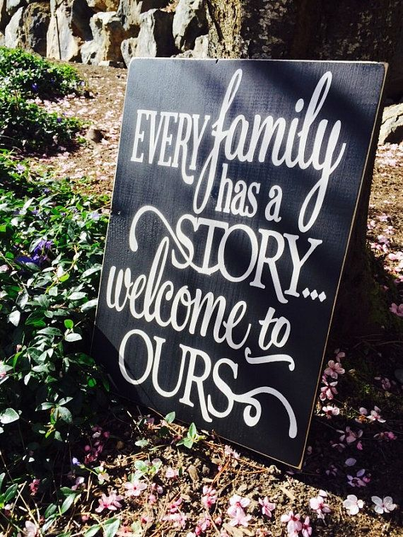 Every Family Has a Story...Welcome to Ours Wood by RusticTimberNW