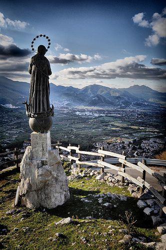 Madonnina del Laceno Keeping Watch - Bagnoli Irpino, Campania, Italy