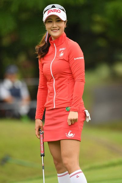 Ha-Neul Kim Photos Photos - Ha-Neul Kim of South Korea smiles during the first round of the Resorttrust Ladies at the Oakmont Golf Club on May 26, 2017 in Yamazoe, Japan. - Resorttrust Ladies - Day 1