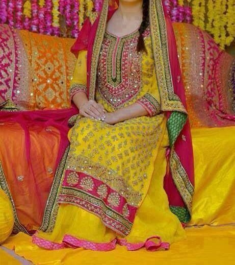 Yellow & Pink in a Pakistani Wedding