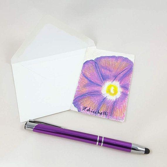 Guarda questo articolo nel mio negozio Etsy https://www.etsy.com/it/listing/464640948/fiore-violaaceo-originaleooakbiglietto