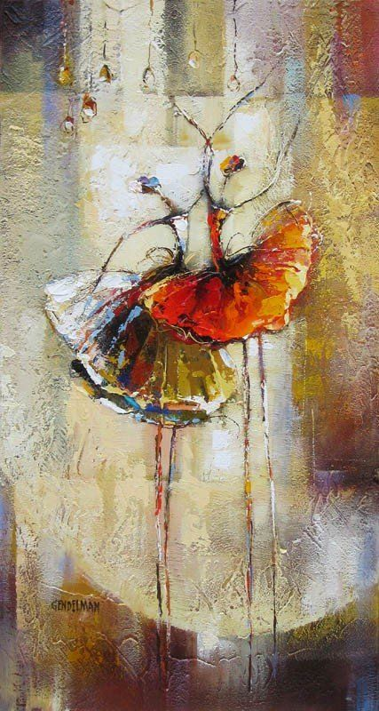Ballerinas by Irene Gendelman - I really like the impressionistic limbs.