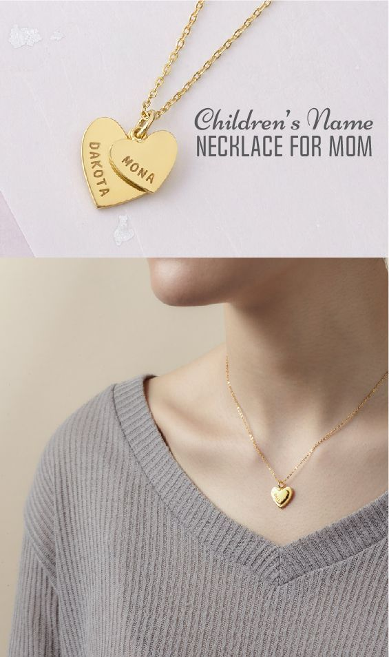 Children Necklace For Mom Mother Daughter Name Necklace Custom
