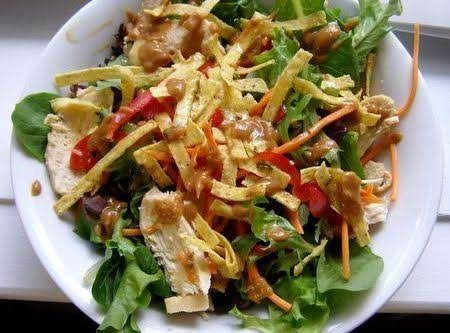 Houston's Grilled Chicken Salad #dressings #chicken salad #for kids #healthy #vegetable #quick easy #lettuce salad #justapinchrecipes