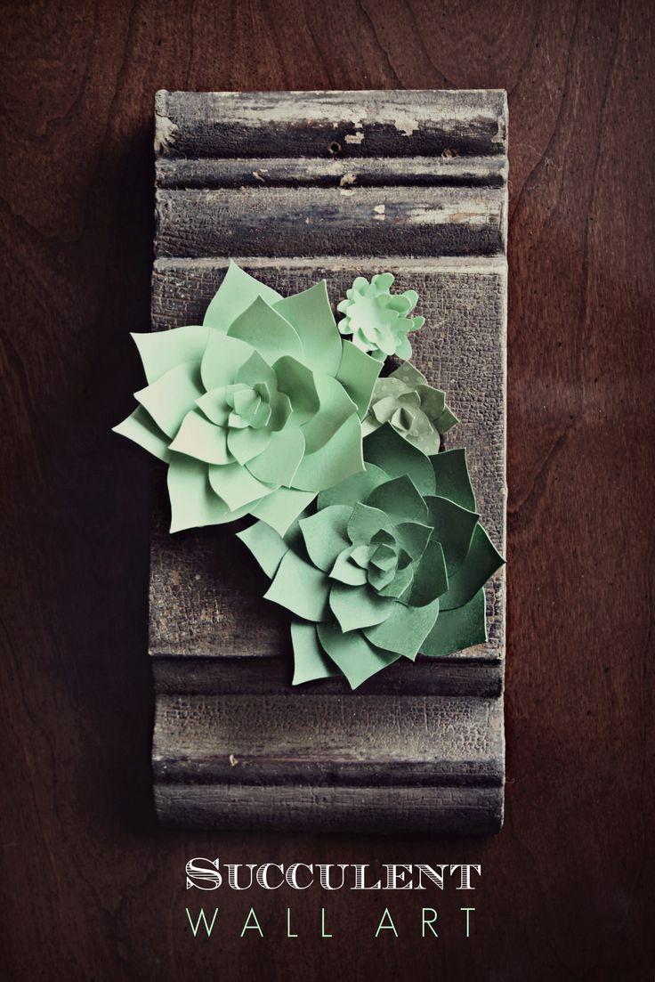 Succulents - Paper Artwork - Decorating ideas - DIY Crafts  http://www.christopherhiedeman.com/#!craftsdiy/c12ay