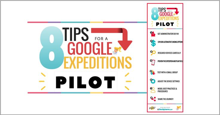 PinterestLessons Learned from a Google ExpeditionsPilot Below are 8 Tips for a Google Expeditions Pilot from Heather Kilgore, an Instructional Technology Coordinator for Commerce ISD in Commerce, Texas, where she shares the lessons learned from their Google Expeditions pilot program.As we all begin to find ways to bring Google Expeditions, Google Cardboard, and other virtual …