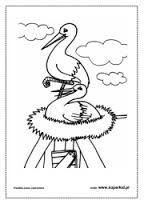 Znalezione obrazy dla zapytania bociany w gnieżdzie rysunki