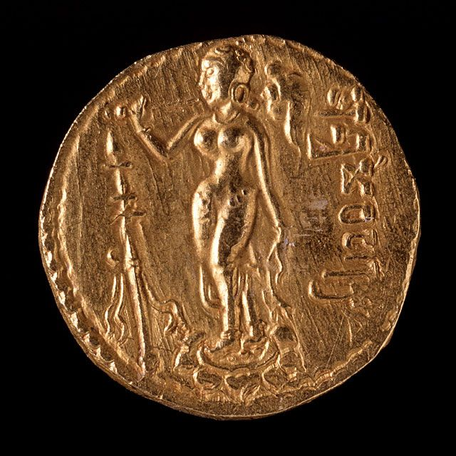 gold dinar of samudraqupta  india 335