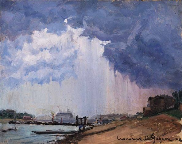huariqueje: Stormy Day - Clarence Gagnon 1908 Canadian, 1881–1942