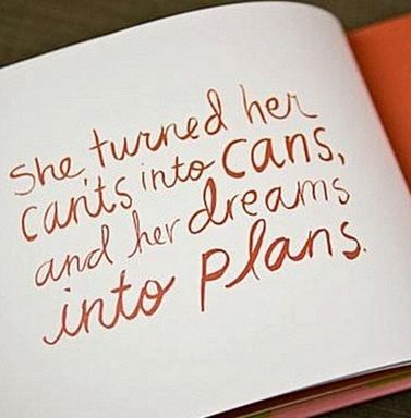 She can. She turned her Can't into cans and her dreams into Plans. #BusinessWomen
