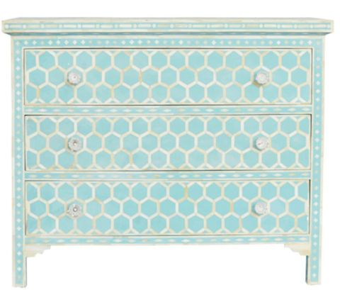 Bone Resin 3 Drawer Chest Honeycomb - Complete Pad ®