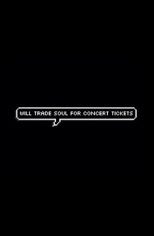 But not just concert tickets. Warped tickets. Or for MCR to get back together.