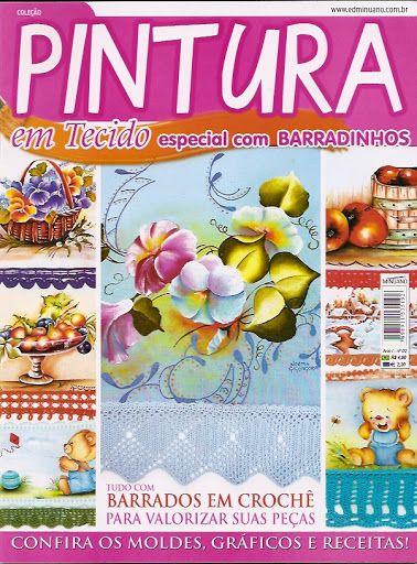 Pintura em Tecido Especial com Barradinhos N02 - lino augusto - Álbuns da web do Picasa..painting patterns and edging diagrams!