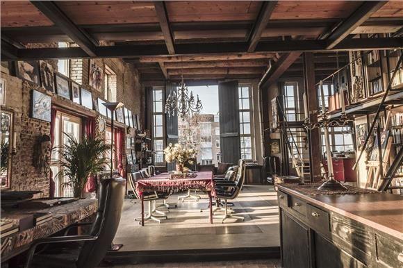 Bohemian loft vierwindenstraat 78 amsterdam foto 39 s for Interieur design amsterdam