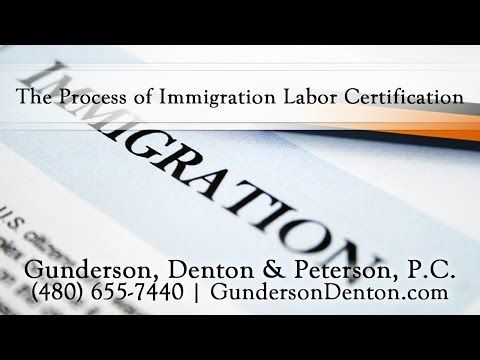 ▶ The Process of Immigration Labor Certification - YouTube