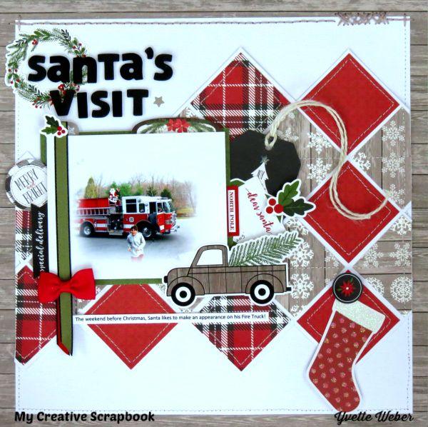 Santa's Visit.. Carta Bella Paper - Christmas Delivery Collection