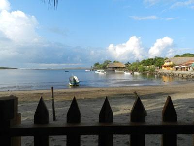 View from Barca de Oro, Las Penitas, Nicaragua.  Photo by T. Hartill, NicaTour Group