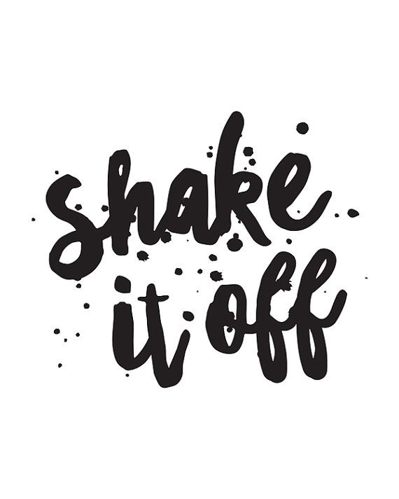 Music Quote Shake it Off Printable Art by happythoughtshop on Etsy