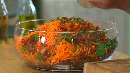 Fiery Red Rice and Carrot Salad