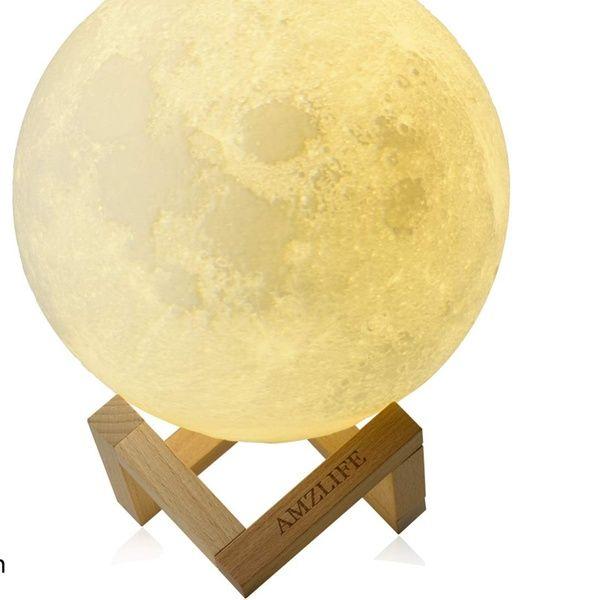 Moon Lamp Moon Night Light For Kids Gift Led 3d Printing Lunar Moon Light Night Light Gifts For Kids Led Desk Lighting