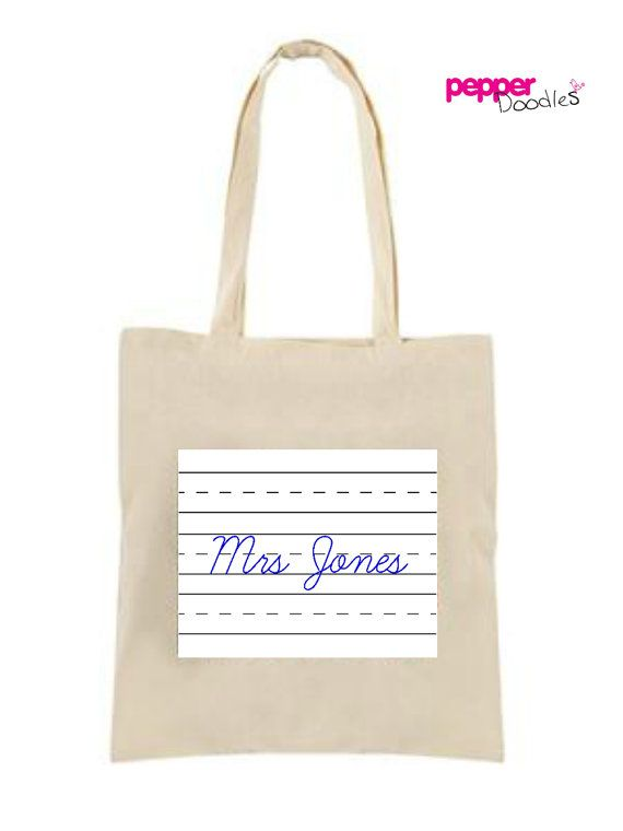 Teacher Gift Personalised Tote Bag Teacher Gift Personalised