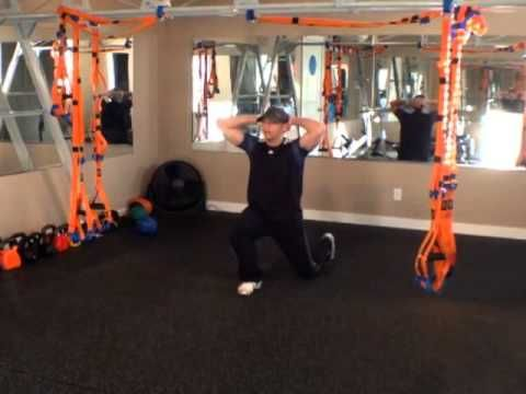 Calgary Personal Trainer Tutorial For Prisoner Lunge. How to do a Prison...