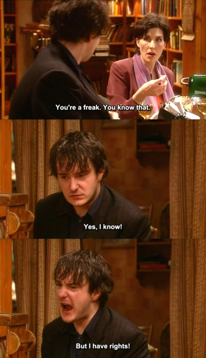 Black Books - Freaks have rights, too.